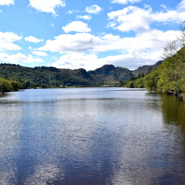 """""""A lake in North Wales"""" stock image"""