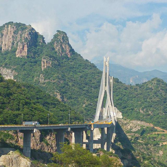"""Baluarte Bridge in Mexico"" stock image"