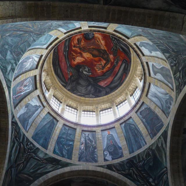 """""""Hospicio Cabañas Dome in Guadalajara Mexico"""" stock image"""