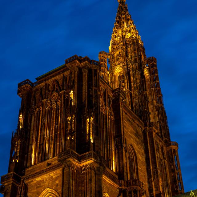 """Cathedral Notre dame de Strasbourg in Alsace"" stock image"