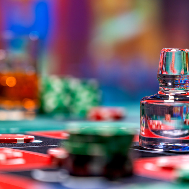 """""""Roulette table at the casino"""" stock image"""