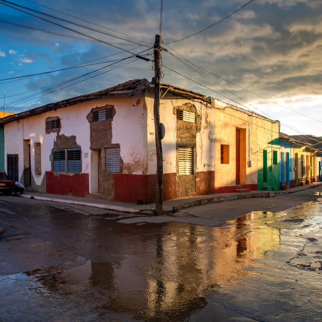 """Trinidad after rain, Cuba"" stock image"