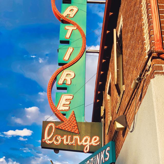 """Satire Lounge"" stock image"