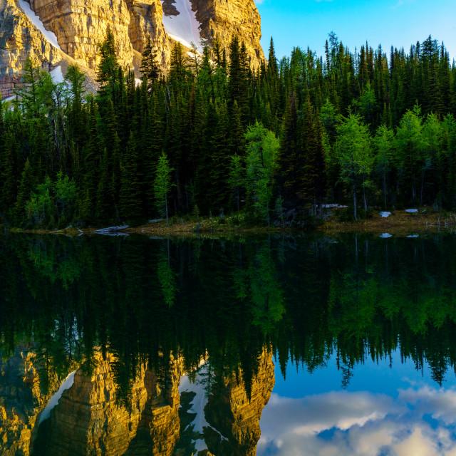 """""""Sunburst Lake"""" stock image"""