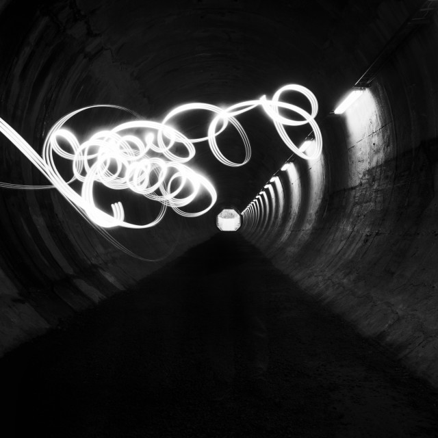 """Playing Light VI (Tunnel)"" stock image"