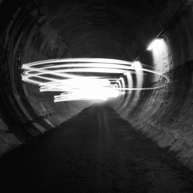 """""""Playing Light VII (Tunnel)"""" stock image"""