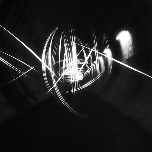 """Playing Light III (Tunnel)"" stock image"