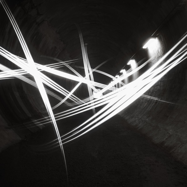 """Playing Light II (Tunnel)"" stock image"
