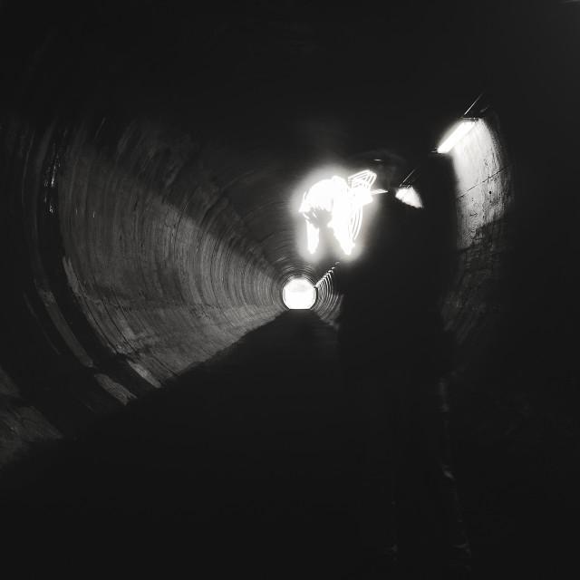 """Bringing Light III (A Tunnel)"" stock image"