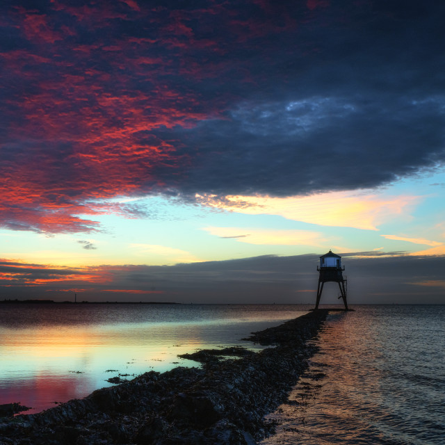 """Dovercourt Low Light Red Light"" stock image"