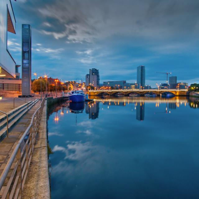 """River Lagan, Belfast"" stock image"