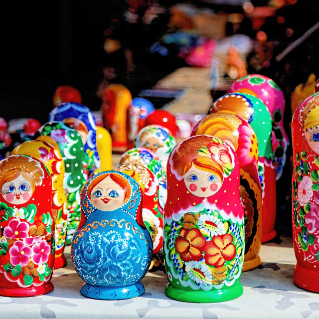 """Matryoshka Polish Dolls"" stock image"