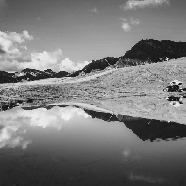 """""""Mountain lake"""" stock image"""