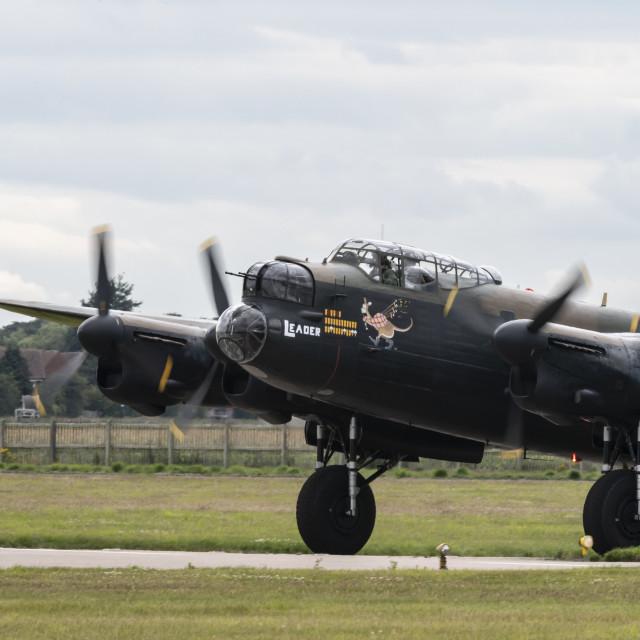 """Avro Lancaster"" stock image"