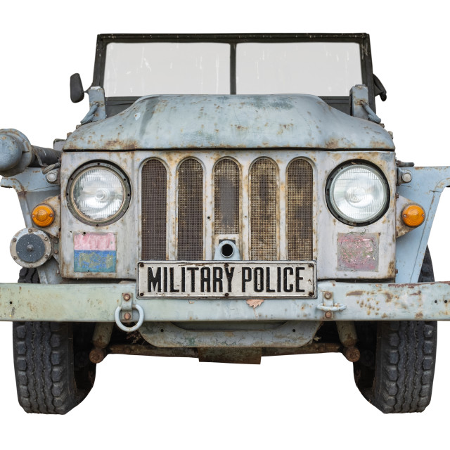 """Vintage Military Police Vehicle"" stock image"