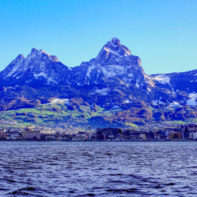 """Brunnen, Switzerland"" stock image"