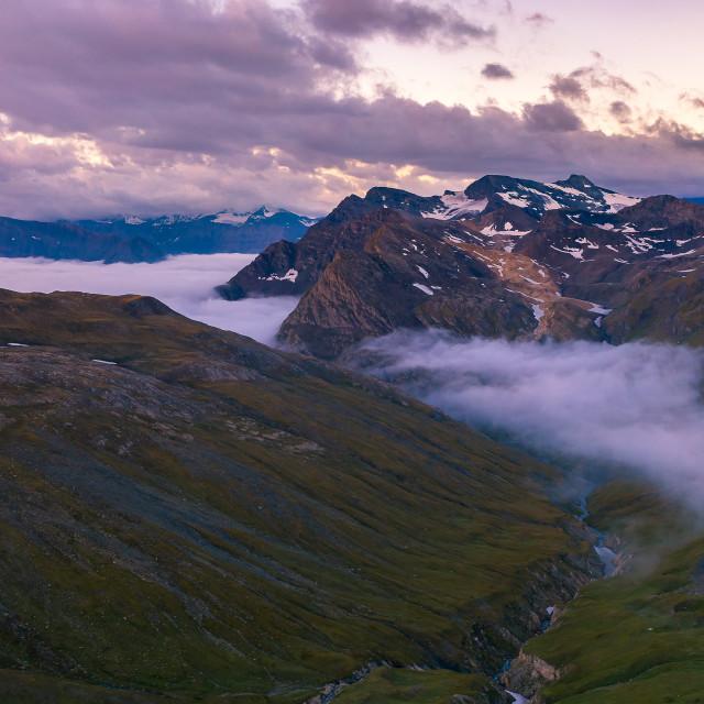 """Sunrise in the Alps"" stock image"