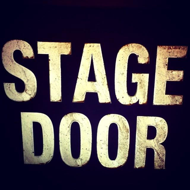 """""""Stage Door"""" stock image"""