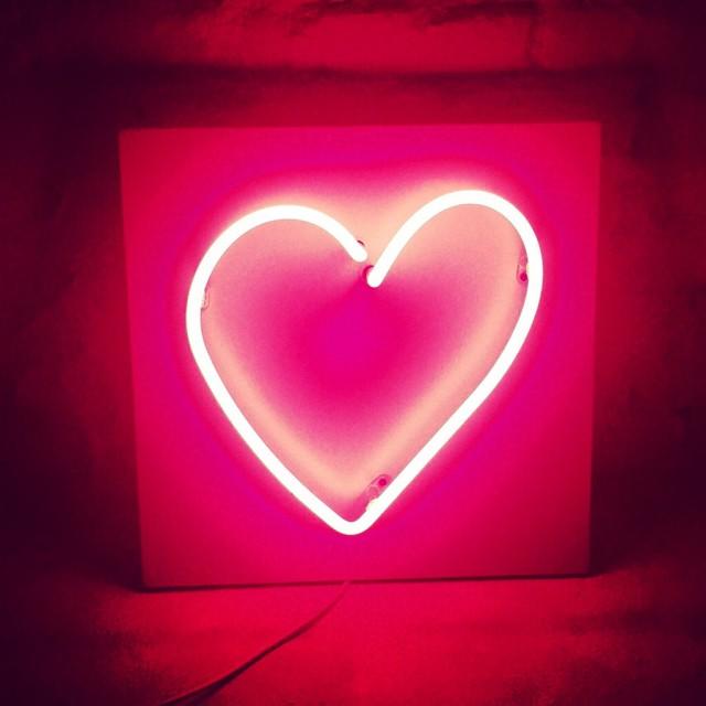 """Neon Heart"" stock image"