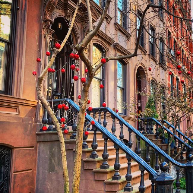 """New York Brownstones"" stock image"