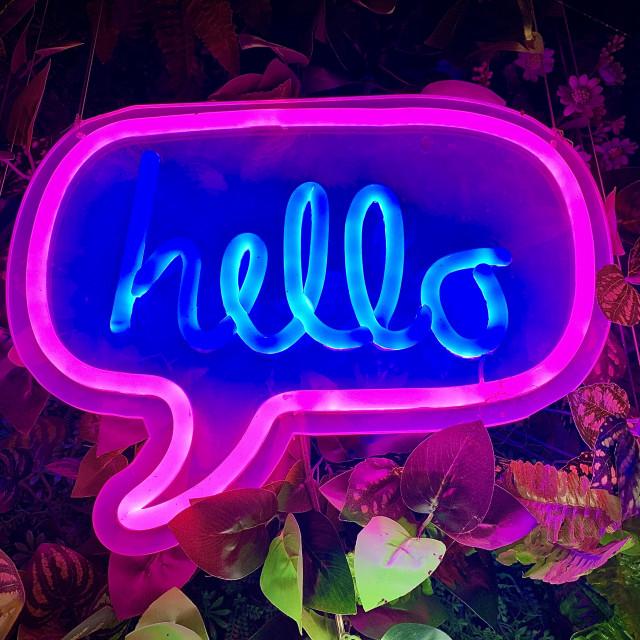 """""""Hello"""" stock image"""