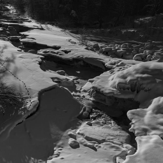 """""""Frozen Rapids"""" stock image"""