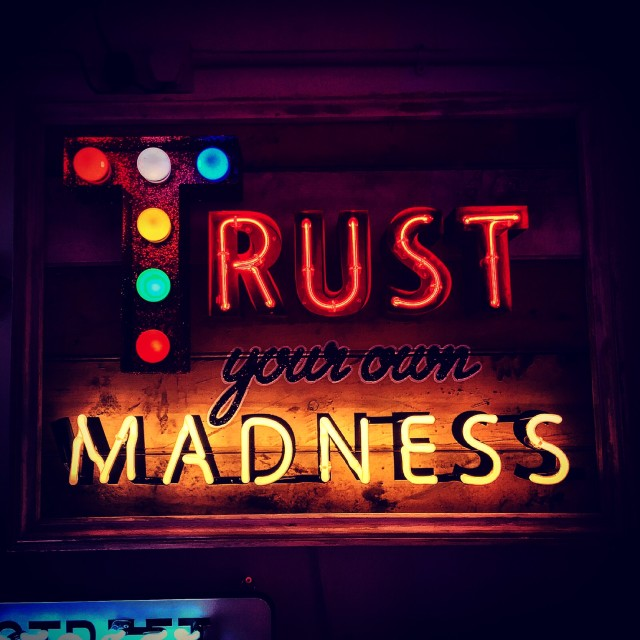 """""""Trust Your Own Madness"""" stock image"""