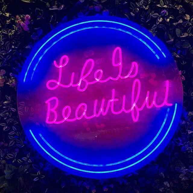 """Life Is Beautiful... In Neon"" stock image"
