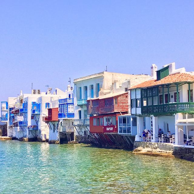 """Mykonos Coastline"" stock image"
