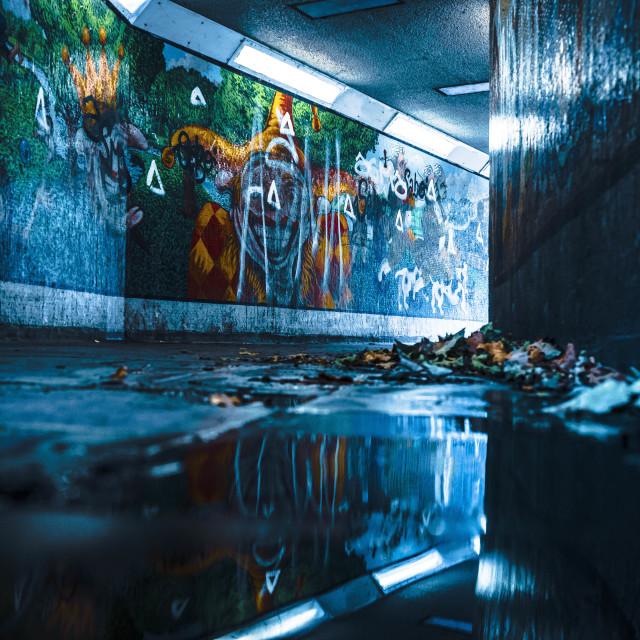 """East Road Subway, Cambridge UK."" stock image"