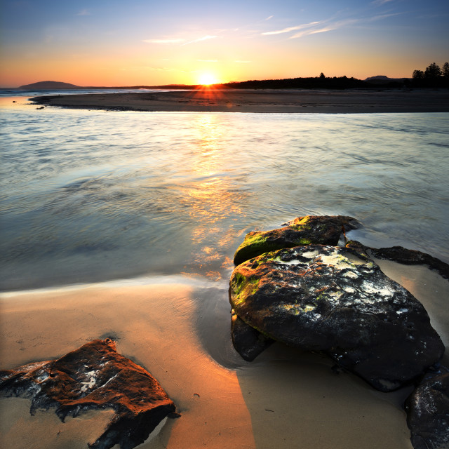 """Gerroa Sunset"" stock image"
