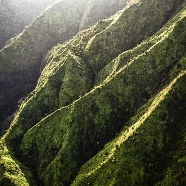 """Serrated Ridges"" stock image"