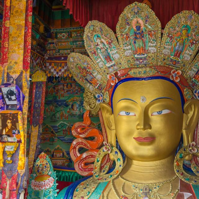 """Buddha Maitreya, Ladakh"" stock image"