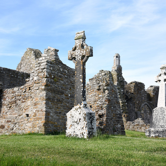 """""""Clonmacnoise Monastery, County Offaly"""" stock image"""
