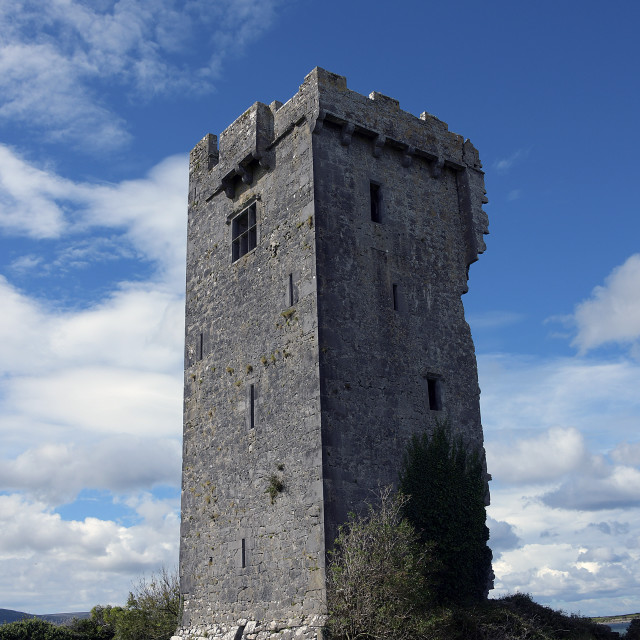 """""""Anglo Norman Keep, Couty Galway"""" stock image"""