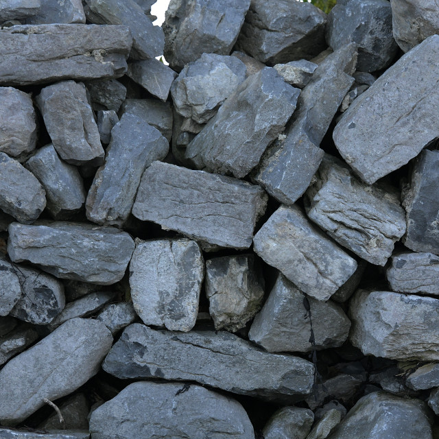 """The Limestone walls of the Burren"" stock image"