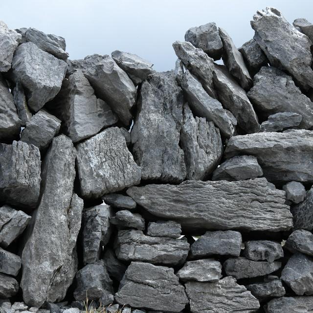 """The Burren - Limestone walls"" stock image"