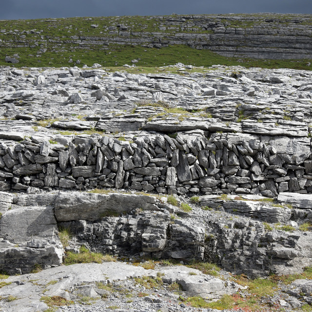 """The Burren Landscape"" stock image"