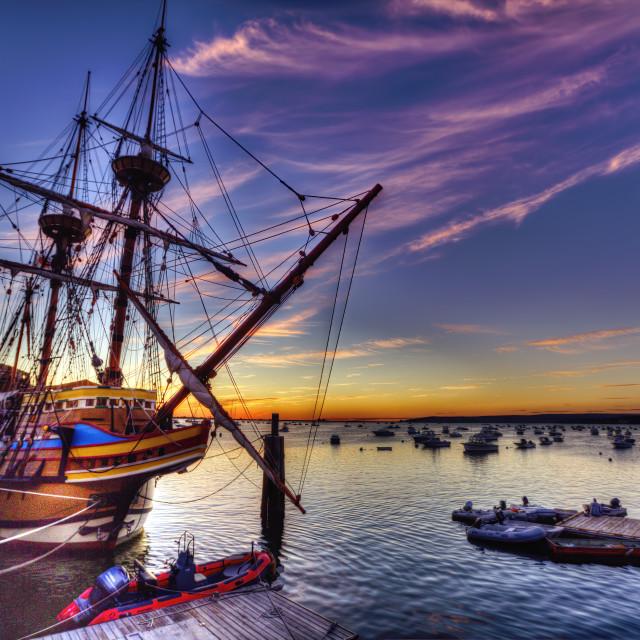 """""""The Mayflower II."""" stock image"""