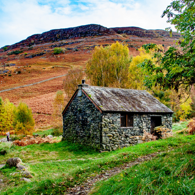 """Bark House Mountain Base, Near Ashness Bridge, Lake District, UK"" stock image"
