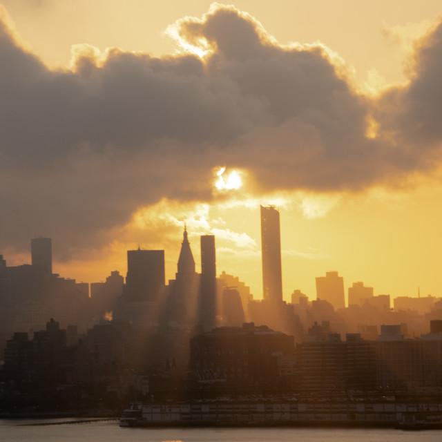 """""""NYC Sunrise"""" stock image"""