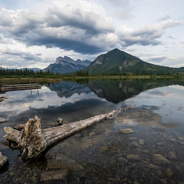 """Vermillion Lakes"" stock image"