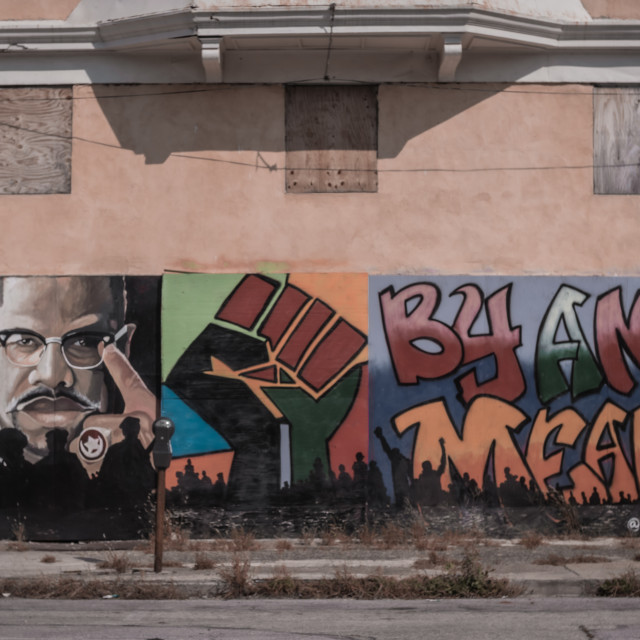 """BLM Mural"" stock image"