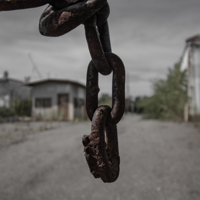 """Rusted Chain"" stock image"
