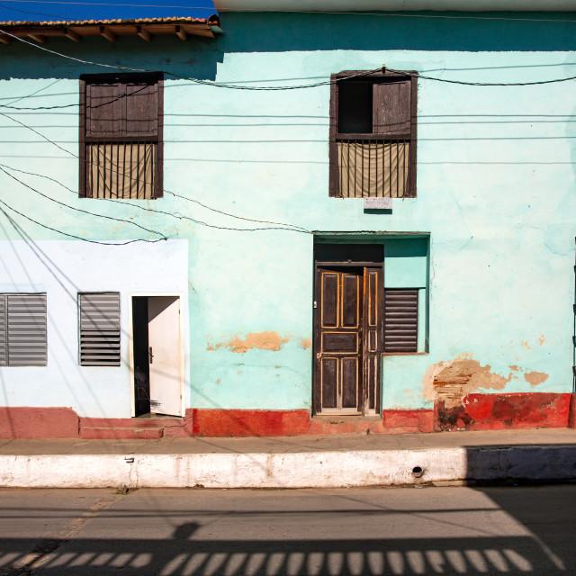"""Empty Street in Trinidad"" stock image"