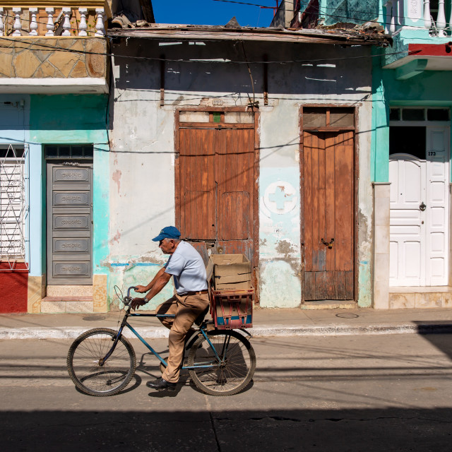 """""""Bicycle in Trinidad"""" stock image"""
