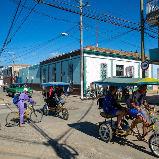 """Traffic in Trinidad"" stock image"