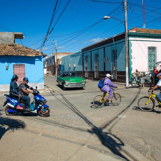 """Street life in Trinidad"" stock image"