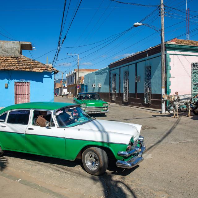 """Street in Trinidad II"" stock image"