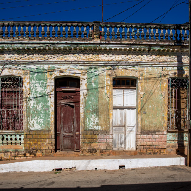 """""""House front in Trinidad"""" stock image"""